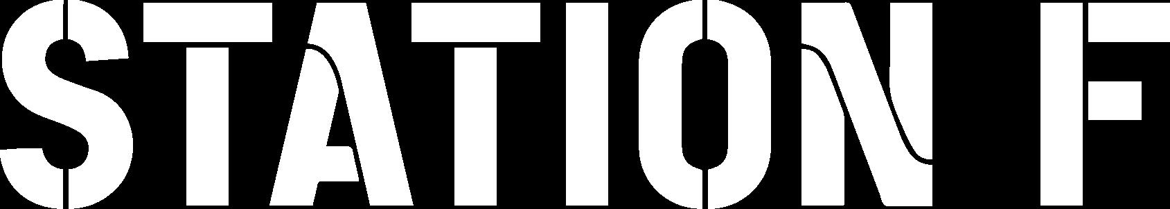 Logo station f blanc